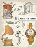 Vintage items — Stock Vector