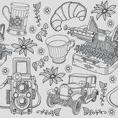 Travel, retro background — Stock Vector