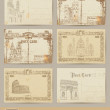Set of old postcards — Stock Vector #58213393