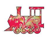 Children's toy train. — Stock Vector