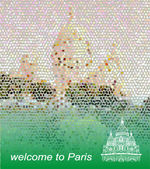Welcome to Paris postcard — Stock Vector