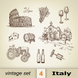 Italy traditional icons set. — Stock Vector #80364622