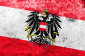 Austria Flag with a vintage and old look — Stockfoto