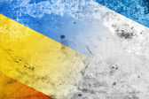 Autonomous Republic of Crimea and Ukraine Flag with a vintage and old look — Stock Photo