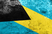 Bahamas Flag with a vintage and old look — Stock Photo