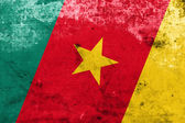 Vintage ve eski bir görünüm ile Kamerun bayrağı — Stok fotoğraf