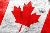 Canada Flag with a vintage and old look — Stock Photo