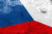 Czech Republic Flag with a vintage and old look — ストック写真