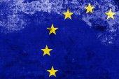 Флаг Европейского союза с старинные и старые смотреть — Стоковое фото