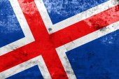 Iceland Flag with a vintage and old look — Stock Photo