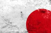 Japan Flag with a vintage and old look — Stock Photo
