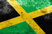 Jamaica Flag with a vintage and old look — Стоковое фото