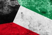 Kuwait Flag with a vintage and old look — Stock Photo