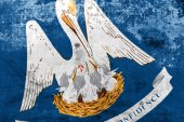 Louisiana State Flag with a vintage and old look — Stock Photo