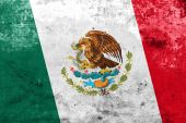 Mexico Flag with a vintage and old look — Stock Photo