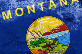 Montana State Flag with a vintage and old look — Stock Photo