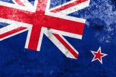 New Zealand Flag with a vintage and old look — Stock Photo