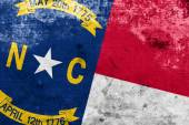 North Carolina State Flag with a vintage and old look — Stock Photo
