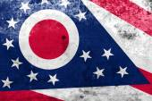 Ohio State Flag with a vintage and old look — Stock Photo