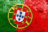 Portugal flagge mit einem vintage und alten look — Stockfoto