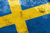 Sweden Flag with a vintage and old look — Stock Photo