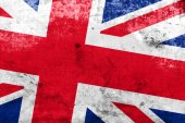 United Kingdom Flag with a vintage and old look — Stock Photo
