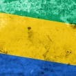 Постер, плакат: Gabon Flag with a vintage and old look