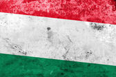 Hungary Flag with a vintage and old look — Foto Stock