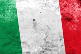 Italy Flag with a vintage and old look — Foto Stock