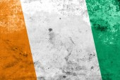 Ivory Coast Flag with a vintage and old look — Foto Stock