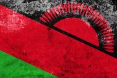 Flaga Malawi z vintage i stary wygląd — Zdjęcie stockowe
