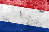 Netherlands Flag with a vintage and old look — Foto Stock