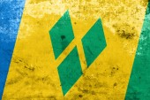 Saint Vincent and The Grenadines Flag with a vintage and old look — Foto Stock
