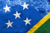 Solomon Islands Flag with a vintage and old look — Foto Stock
