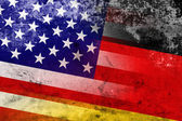 USA and Germany Flag with a vintage and old look — Foto Stock