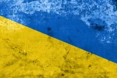 Ukraine Flag with a vintage and old look — Foto Stock