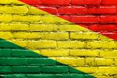 Bolivia Flag painted on brick wall — Stock Photo
