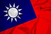 Waving Taiwan Flag — Stock Photo