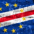 Cape Verde Flag painted on grunge wall — Stock Photo #52820281