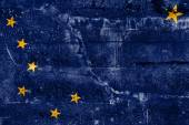 Alaska State Flag painted on grunge wall — Stockfoto