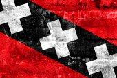 Bandeira de cidade de amesterdão pintada na parede do grunge — Foto Stock