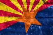 Arizona State Flag painted on grunge wall — Stock Photo