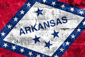 Arkansas State Flag painted on grunge wall — Stock Photo