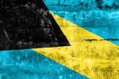 Bandeira de bahamas, pintada na parede do grunge — Foto Stock