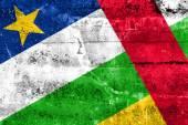 Bandeira da república centro-africana pintada na parede do grunge — Foto Stock