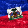 Haiti Flag painted on grunge wall — Stock Photo #52882605