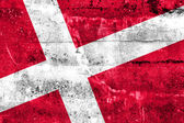 Denmark Flag painted on grunge wall — Stock Photo