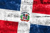 Bandeira da república dominicana pintado na parede do grunge — Foto Stock