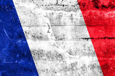 France Flag painted on grunge wall — Stock Photo
