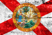Florida State Flag painted on grunge wall — Stock Photo